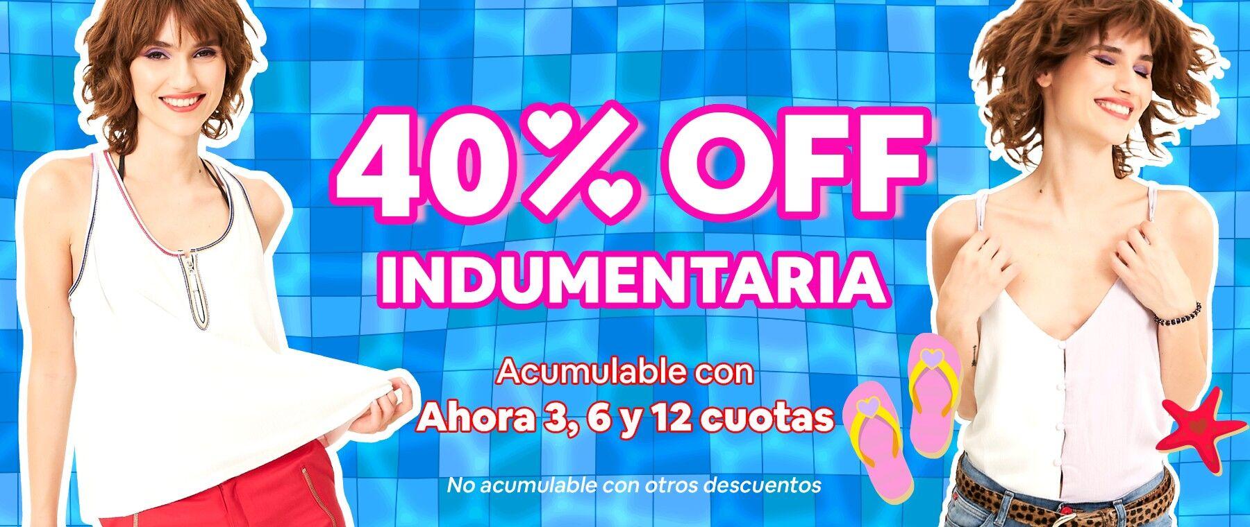 40%off indumentaria